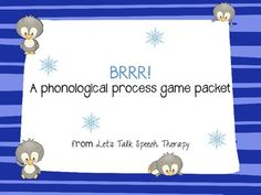 """Brr""-A phonological process game packet from Let's Talk Speech Therapy: fronting, stopping, final consonant deletion, cluster reduction."