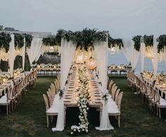 Discover recipes, home ideas, style inspiration and other ideas to try. Magical Wedding, Tent Wedding, Dream Wedding Dresses, Wedding Ceremony, Wedding Venues, Glamorous Wedding, Wedding Venue Decorations, Wedding Themes, Wedding Ideas