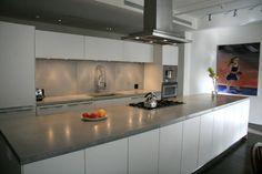 Wonderful Mahagony Kitchen Cabinet Grey Counter Top