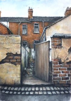 Davids pastels often stop people in their tracks, perhaps its the childhood memories of walking up the backyard for your tea or perhaps his attention to detail bathed in warmth. This is an Original pastel drawing A1 in size by David Brammeld RBSA.  Available at Barewall. A terrific and gifted artist who has recorded the changing landscape of Stoke on Trent for many years. He shows regularly at The Mall Galleries in London. A great artist in the making, an original by D Brammeld for £725
