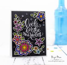 "Brigit's Scraps ""Where Scraps Become Treasures"": Look For The Miracles - Simon Says Stamp June Card Kit"