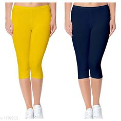Capris Trendy Cotton Lycra Capris Leggings Fabric: Cotton Lycra Size: Up To 28 in to 36 in( Free Size) Length: Up To 34 in  Type: Stitched Description: It Has 2 Piece Of Women's Capris Pattern: Solid Country of Origin: India Sizes Available: Free Size, 24, 26, 28, 30, 32 *Proof of Safe Delivery! Click to know on Safety Standards of Delivery Partners- https://ltl.sh/y_nZrAV3  Catalog Rating: ★4 (2888)  Catalog Name: Alice Trendy Cotton Lycra Capris Combo Leggings CatalogID_136944 C79-SC1037 Code: 742-1110953-