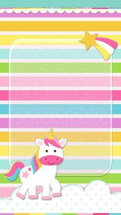 Rainbow unicorn wallpaper Pretty Wallpapers