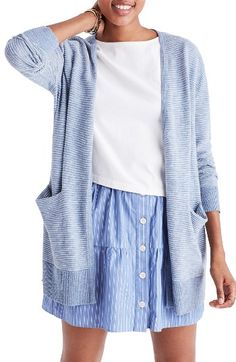 Free shipping and returns on Madewell Summer Ryder Cardigan at Nordstrom.com. Designed with breezy summer nights in mind, this lightweight cotton-blend sweater is knit with slender stripes and a roomy silhouette.