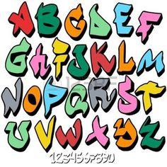 alphabet tag: alphabet police graffitis