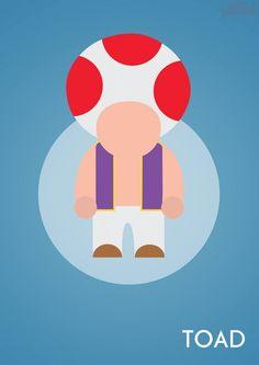 John Sideris et ses affiches minimalistes de Personnages de jeux-vidéo