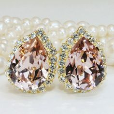 Simply perfect clip ons...studs and drop earrings are available too...even a matching ring....