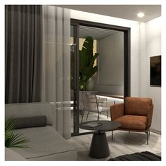 The exterior is designed as the continuity of the interior. Exterior Design, Interior And Exterior, Interior Concept, Beach Hotels, Private Pool, Studio, Architecture, Room, Furniture