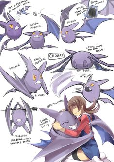 Various faces of Crobat (Pokemon)