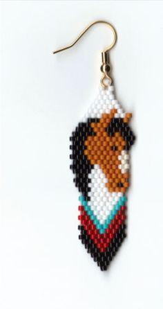 Hand-Beaded-Buckskin-Horse-Head-on-a-Feather-dangling-earrings-2-long $10.49