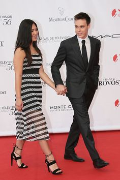 Louis Ducruet and girlfriend arrives at the 56th Monte Carlo TV Festival Opening Ceremony at the Grimaldi Forum on June 12, 2016 in Monte-Carlo, Monaco.