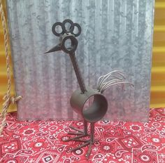 Junk Scrap Metal Art Rooster / Chicken. Stands by ArizonaIronWorks