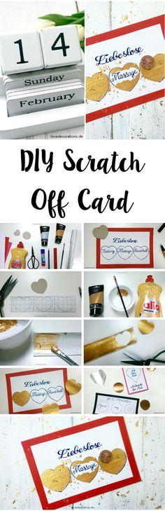 DIY Rubbelkarte - eine tolle Idee um Gutscheine kreativ zu verschenken
