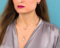 Rosa pendientes oro pendientes aretes de Dama de honor