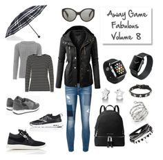 """AGF Vol.8"" by michele-nyc ❤ liked on Polyvore featuring 7 For All Mankind, LE3NO, Oliver Peoples, WearAll, MICHAEL Michael Kors, Burberry, Boohoo, NIKE, Giuseppe Zanotti and Betty Barclay"