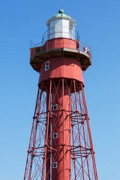 The lighthouse of Sandhammaren, Österlen, Skåne, Sweden