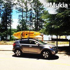 Ready for kayaking! <photo courtesy of instagram user @bmholmes86> #Sportage #MyKia #Kia Crossover Suv, Kia Motors, Car Repair Service, Kia Sportage, Hot Wheels, Kayaking, 4x4, Instagram Users, Wanderlust