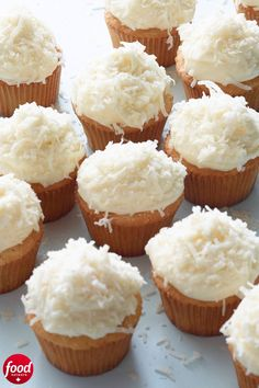 TED'S amazing cupcakes via . Coconut Cupcakes recipe from Ina Garten via Food Network Barefoot Contessa, Chefs, Coconut Cupcakes, Moist Cupcakes, Apple Cupcakes, Coconut Cheesecake, Cheesecake Dip, Vanilla Cupcakes, Food Network Canada