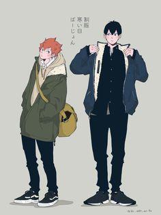Kagehina, Kageyama Tobio, Haikyuu Funny, Haikyuu Fanart, Haikyuu Anime, Haikyuu Characters, Anime Characters, Anime Manga, Anime Art