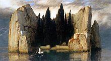 アルノルト・ベックリン「死の島 」(ベルリン美術館版)