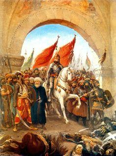 Fatih Sultan Mehmet Han'ın İstanbula giriş tablosu