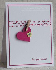i love cards. Wedding Anniversary Cards, Wedding Cards, Wedding Shower Cards, Valentine Day Cards, Holiday Cards, Tarjetas Diy, Karten Diy, Heart Cards, Card Making Inspiration