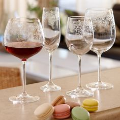 Lucca wine glasses add a delicate, formal elegance to any occasion