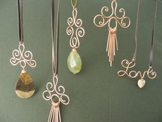 Beautiful handmade copper pendant necklaces- some really neat designs