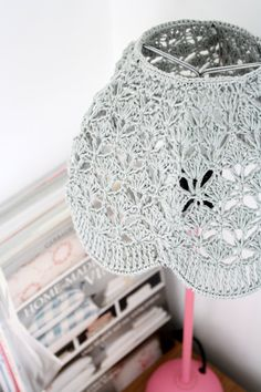 Crochet Lampshade Gray by babytogo on Etsy
