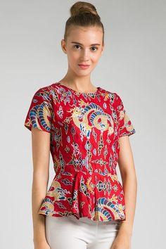 Sell Stella Peplum Batik Blouses | Berrybenka.com