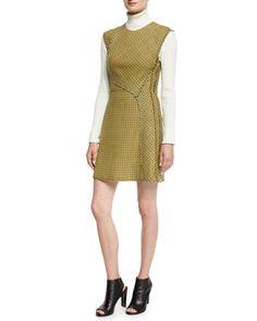 Sleeveless+Plaid+Trapunto+Mini+Dress,+Yellow+by+3.1+Phillip+Lim+at+Neiman+Marcus.
