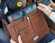 This was one of our most popular pins and I am reposting it because this long awaited model is finally in stock and shipping. Please come and check them out -   https://www.mac-case.com/collections/leather-briefcases-s/products/leather-ipad-pro-briefcase