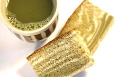 Green Tea Castella (Kasutera) Marble or Zebra Japanese Sponge Cake Recipe