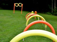 Activity: Pool Noodle Obstacle Course {via MY PARTY PASSION}