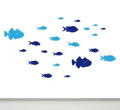 Fish Wall Decal Fish Shoal Fish Wall Decor set of by MUSTERLADEN, €16.60