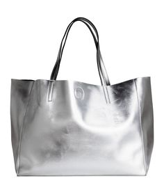 Large Silver Tote | H&M Accessories