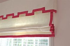 Trendy Bedroom Curtains With Blinds Valances Greek Key 16 Ideas Plywood Furniture, Furniture Design, Painted Furniture, Hollywood Regency, Outside Mount Roman Shades, Bedroom Curtains With Blinds, Burlap Curtains, Diy Roman Shades, Wood Blinds
