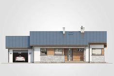 Roberto II SZ. Parterowy dom w szkielecie drewnianym z garażem. Studio Atrium Atrium, My House, Garage Doors, Outdoor Decor, Studio, Home Decor, Haus, Studios, Interior Design