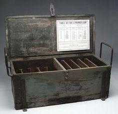 Munitions; Limber Chest, Civil War, Confederate States, CS.