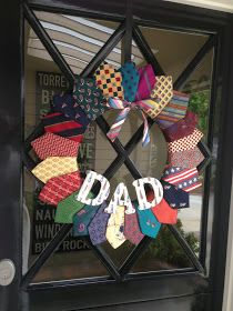 Crafty Mama: Father's Day Necktie Wreath (Guest Blogger)
