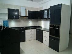 Kitchen black cabinets modern 28 ideas for 2019 White Kitchen Furniture, Painting Kitchen Cabinets White, Modern Kitchen Cabinets, Black Cabinets, Kitchen Paint, Kitchen Interior, New Kitchen, Kitchen Modern, Floors Kitchen