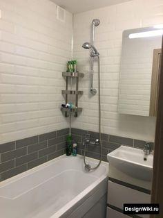 Дизайн Ванной в Хрущевке: 79 реальных фото и 7 правил ремонта Space Saving Bathroom, Corner Bathtub, Alcove, Deco, Home, Deko, Ad Home, Dekorasyon, Homes