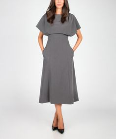 Another great find on #zulily! Gray Midi Dress #zulilyfinds