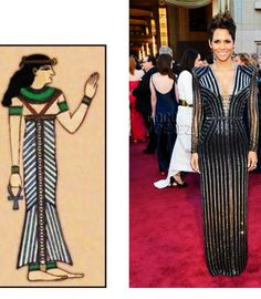 Beautiful Versace gown by Donatella similar to the Egyptian Kalasiris gown