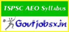 TSPSC AEO #Syllabus2016