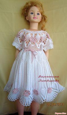 ме Платьице связано крючком №1,1 для девочек 2 - 5 лет из 100% хлопка.  Размещаю повторно, но уже со схемами по многочисленным просьбам мастериц вязания крючком из Girls Dresses, Flower Girl Dresses, Harajuku, Wedding Dresses, Style, Fashion, Crochet Baby Dresses, Craft, Weaving Kids