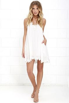 087d4f4e65 Lily Love Ivory Shift Dress at Lulus.com! Grad Dresses