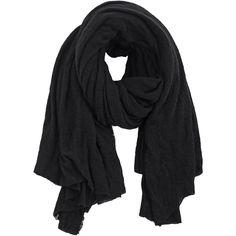 PIN1876 Botto Giuseppe Stola Black Cashmere scarf found on Polyvore