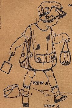 Little Girls Vintage 1920s Apron Pattern 3706 by sentimentalbaby, $9.95
