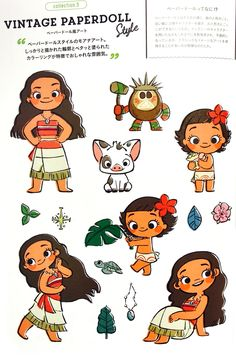picha of Young Moana Vintage Paperdoll for mashabiki of Moana. Cute Disney Drawings, Disney Princess Drawings, Cartoon Drawings, Cute Drawings, Disney Doodles, Kawaii Disney, Moana Theme, Moana Party, Cute Disney Wallpaper